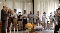 Foto: Chorgesang bei Jubiläumsfeier